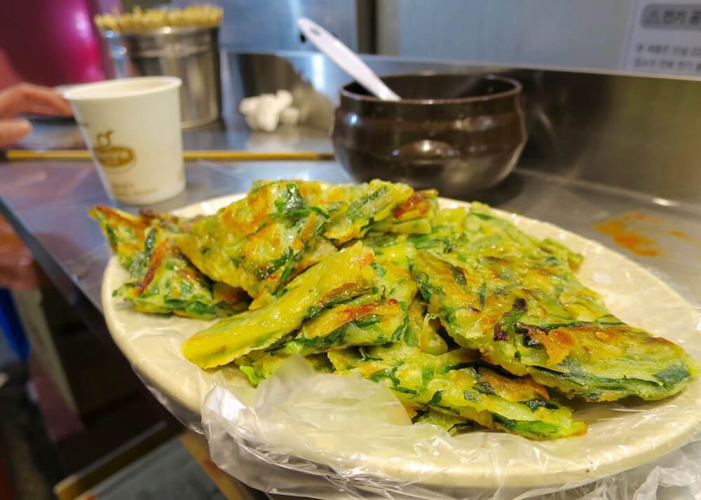 what to eat in seoul - gamjajeon potato cakes