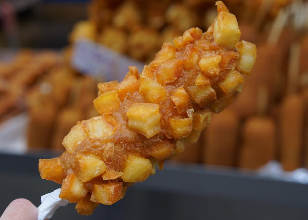 what to eat in seoul - gamja corn dog