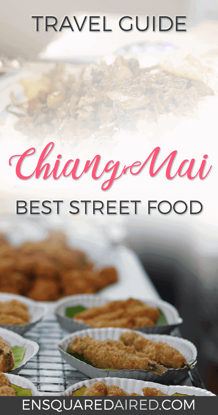 The Best Street Food In Chiang Mai's Night Market. Chiang Mai street food is the best! Are you looking for good food in Thailand but you're on a budget. Click on this post to see photos of what street food you should eat in Chiang Mai's night markets. #chiangmai #chiangmaitravel #chiangmaifood #chiangmaieats