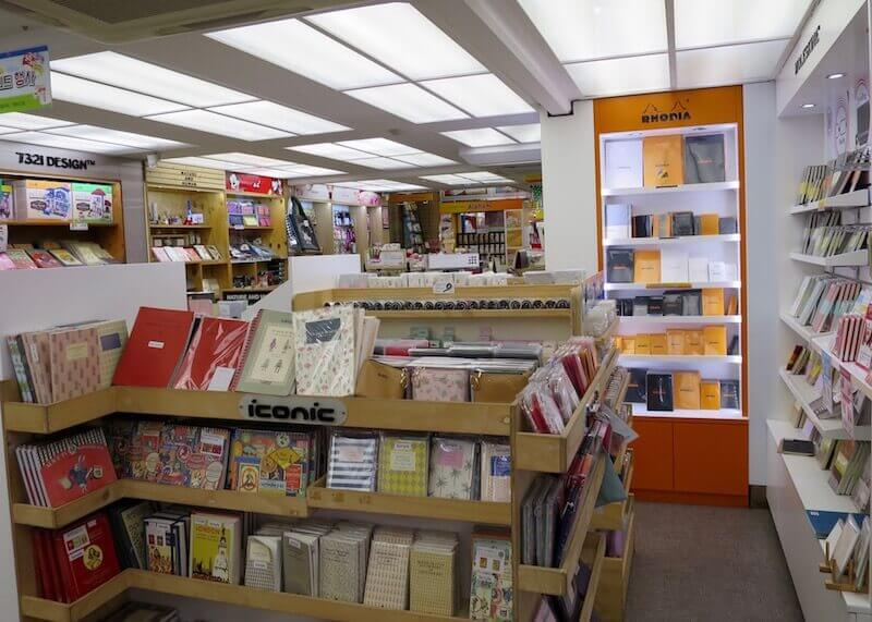 korean stationery stores seoul - rhodia collection