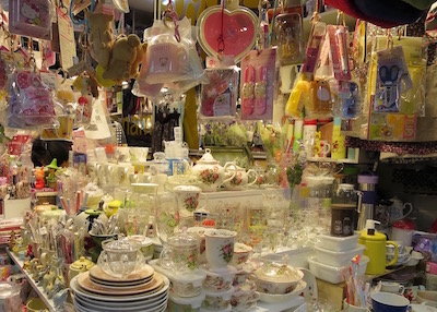 Namdaemun market in Seoul - homeware shopping