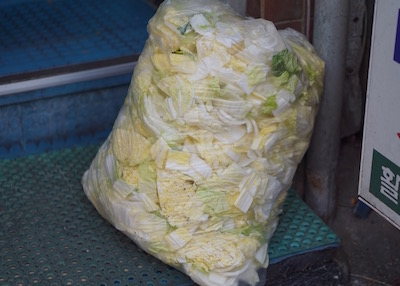 Namdaemun market in Seoul - cabbage in bag