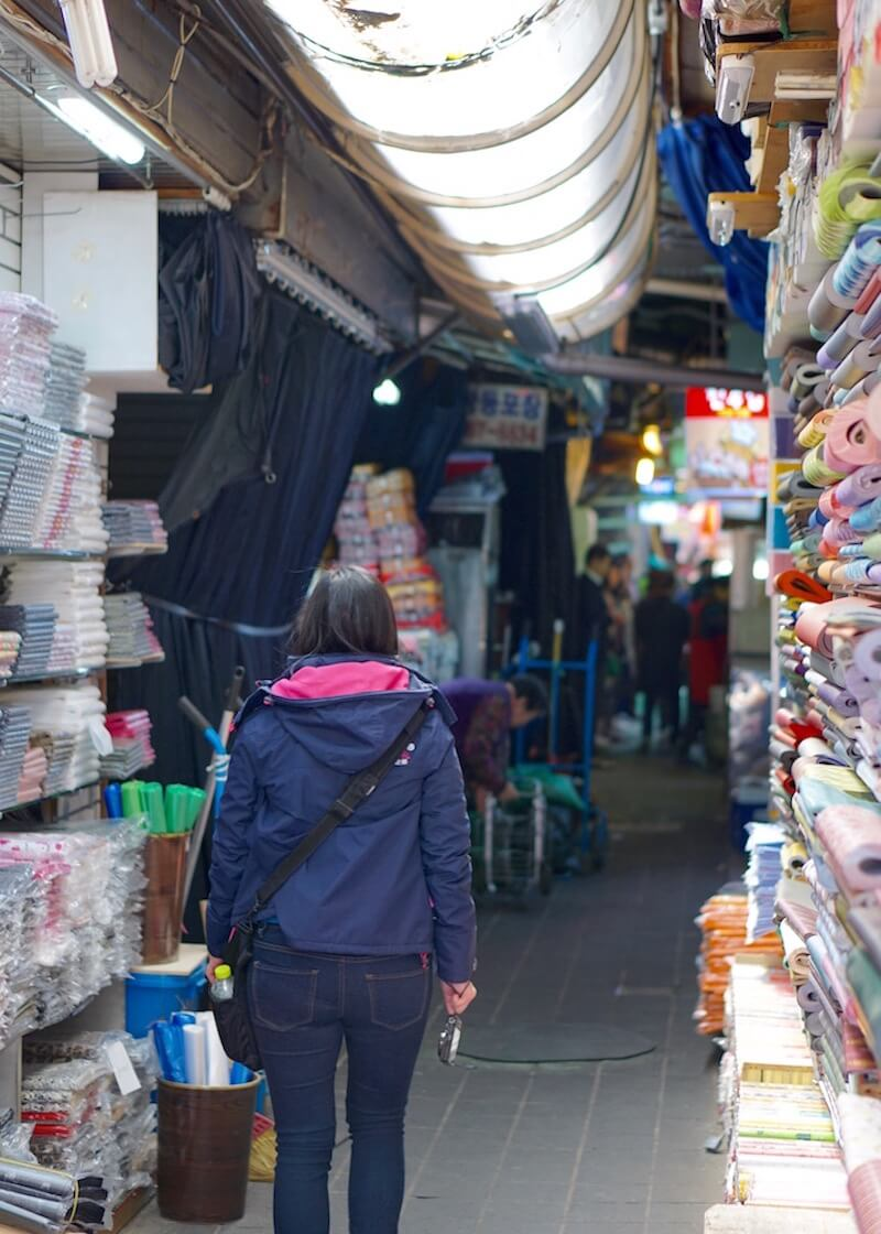 Namdaemun market in Seoul - walking through alleys of merchandise
