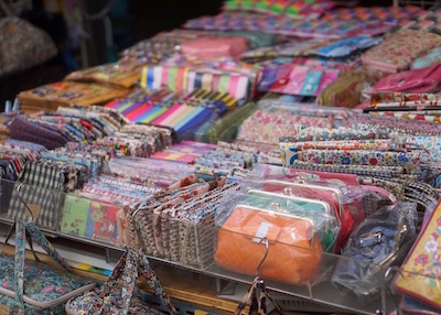 Namdaemun market in Seoul - purses for sale