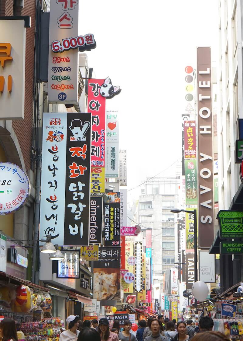 Places To Visit In Seoul - myeongdong