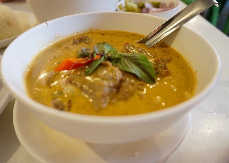 authentic thai cuisine - panang curry