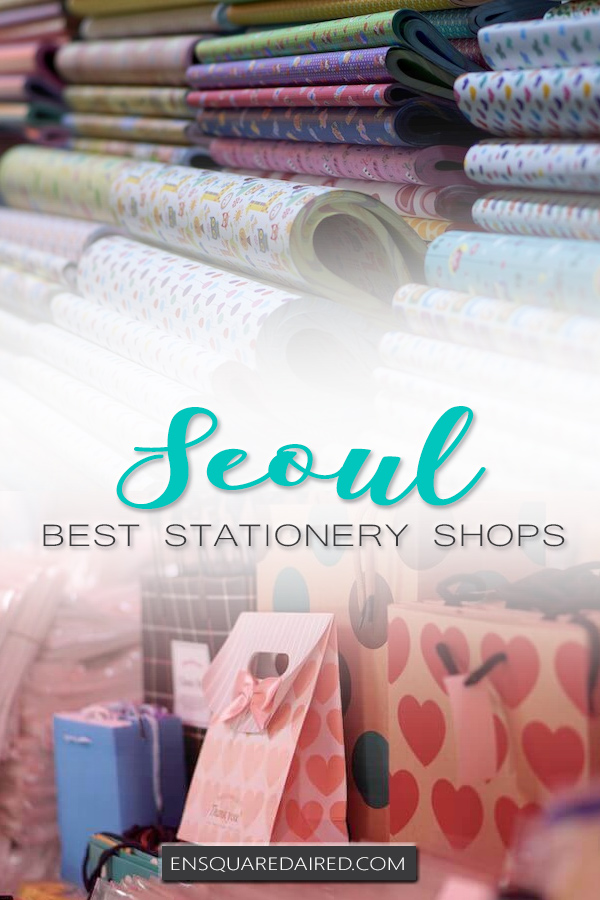 korean stationery stores seoul - pin