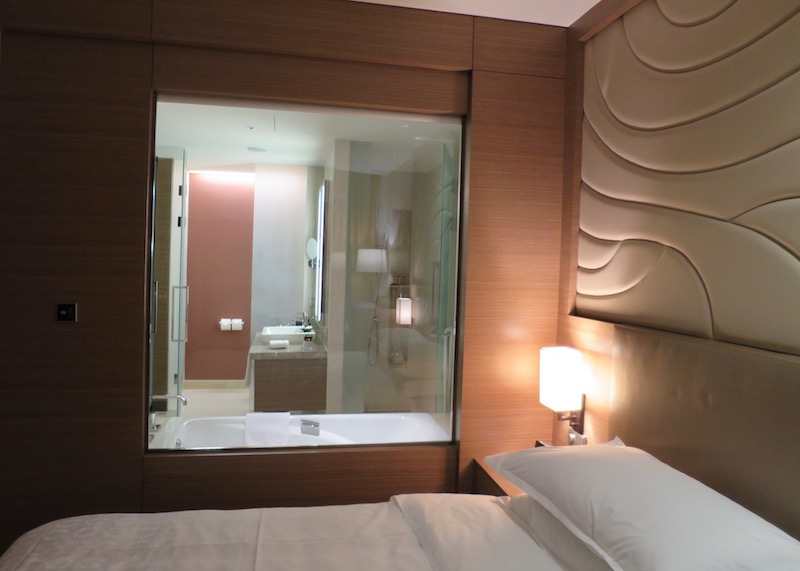 sheraton seoul d cube city hotel - window to bathroom