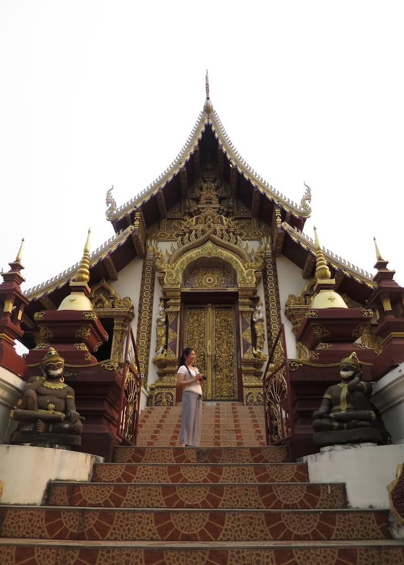 Thailand Travel - Chiang Mai Temples - 28 - Wat Rajamontean