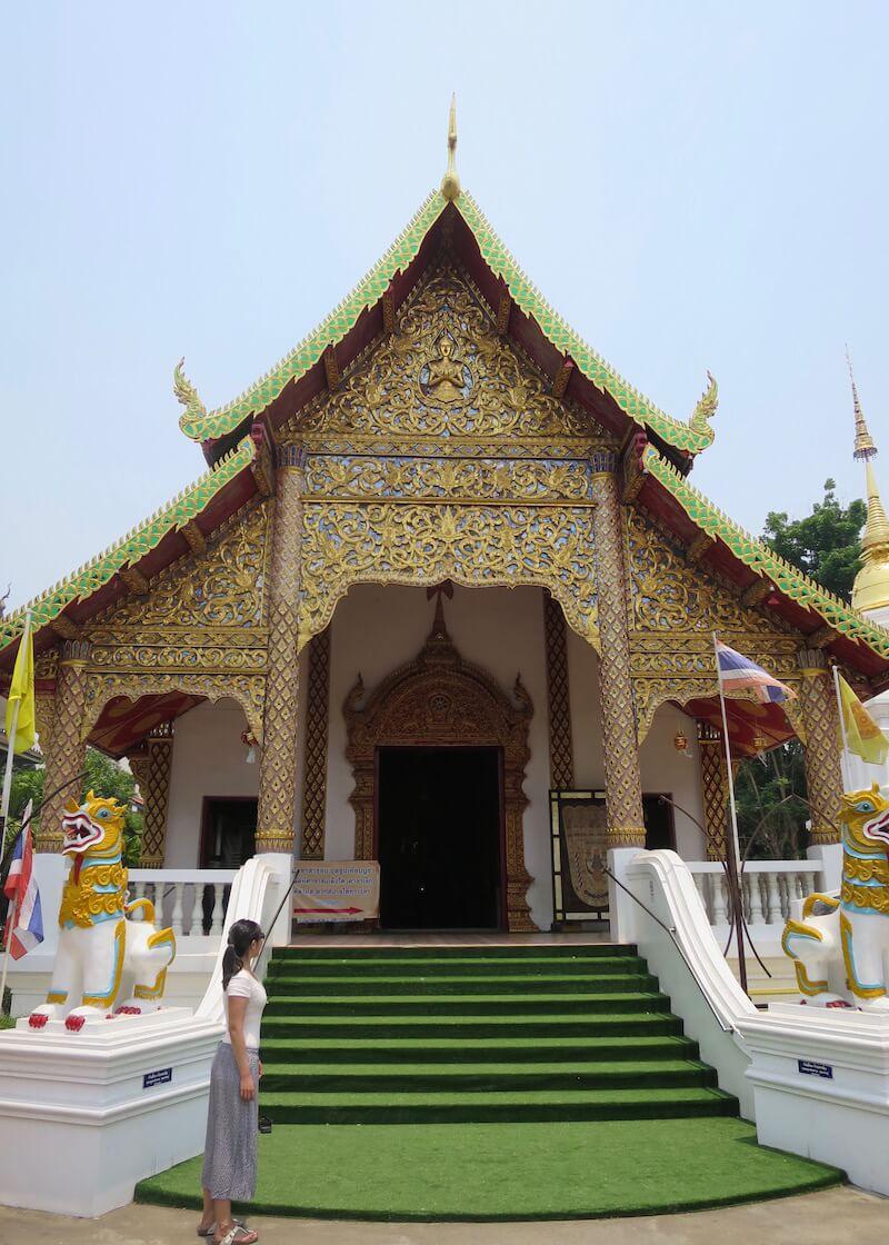 Thailand Travel - Chiang Mai Temples - 29 - Wat Chai Prakiat
