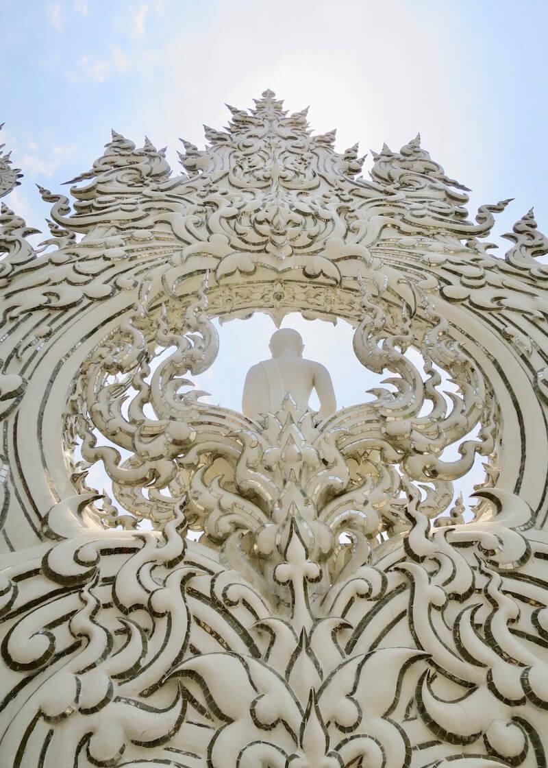 Wat Rong Khun White Temple In Chiang Rai – buddha glistening