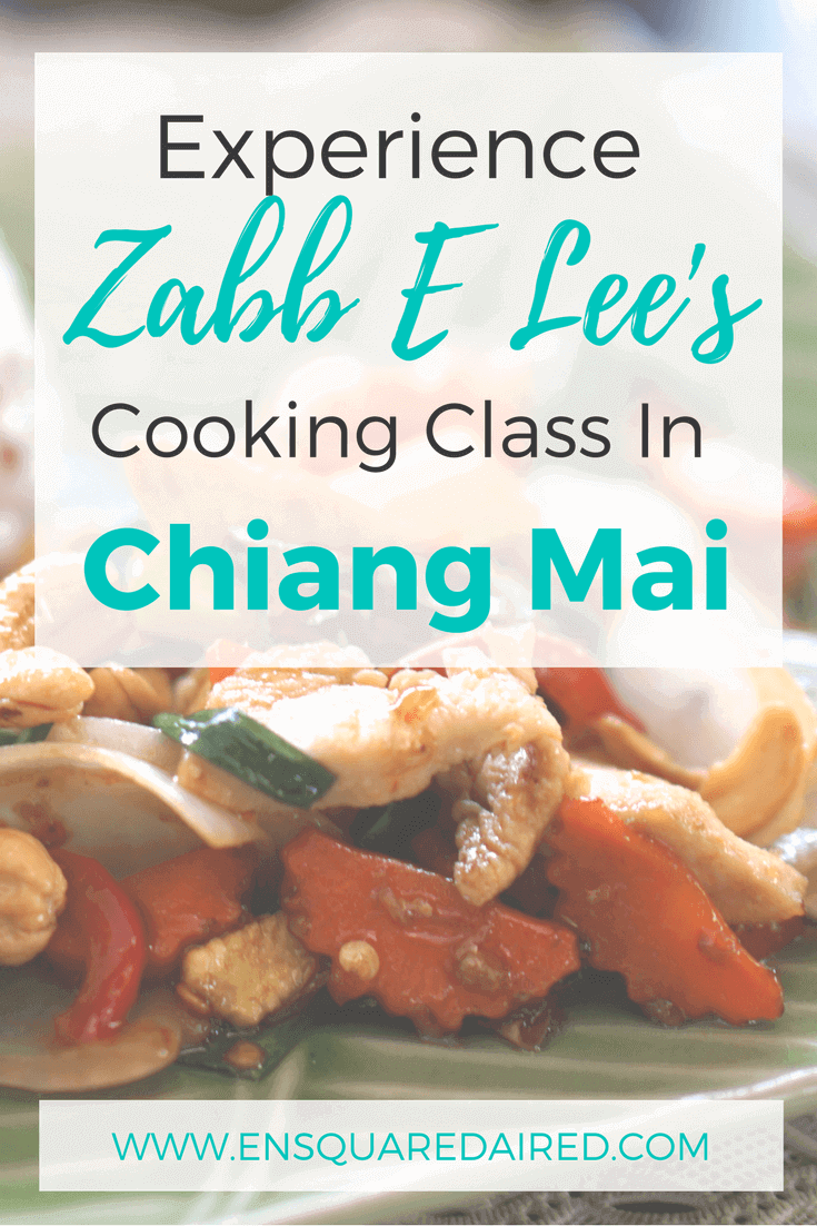Zabb E lee's Thai cooking class. Are you visiting Chiang Mai in Thailand are you're interested in taking a cooking school? Try Zabb E Lee's cooking class, where you'll learn new cooking skills, a new skill that you can take home with you.