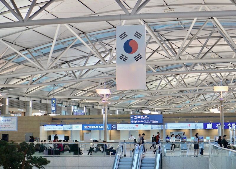 travel to seoul korea - incheon international airport