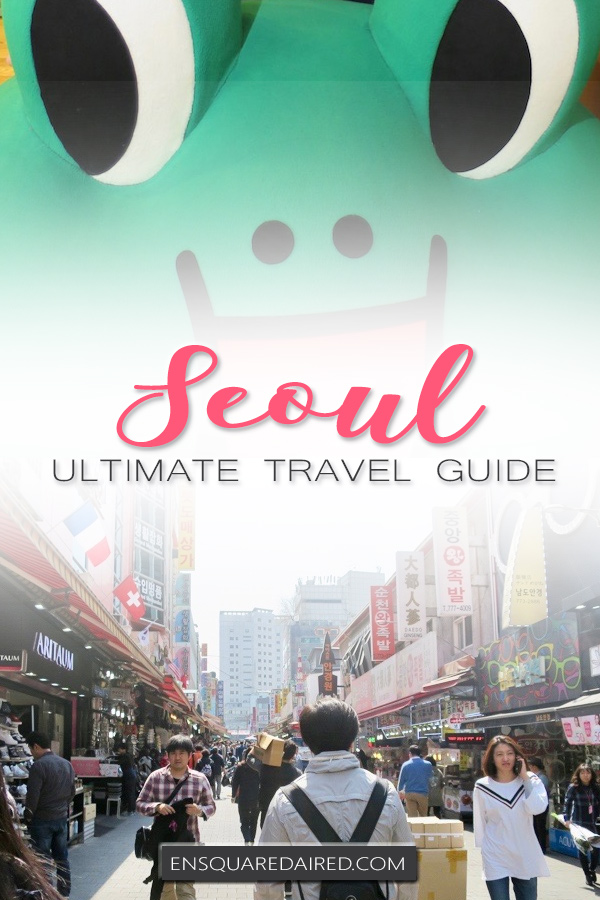 travel to seoul korea - pin
