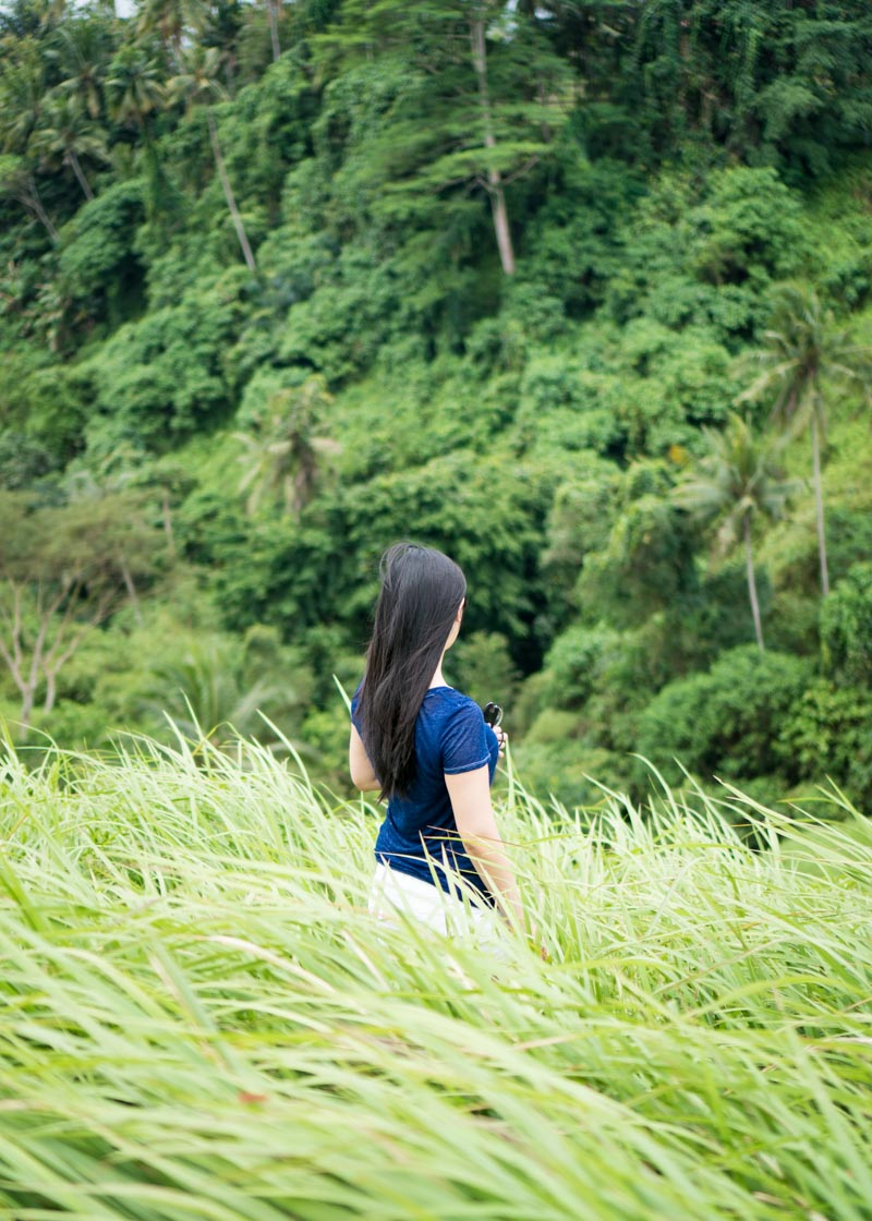 living as a nomad - asian girl bali campuhan ridge walk ubud