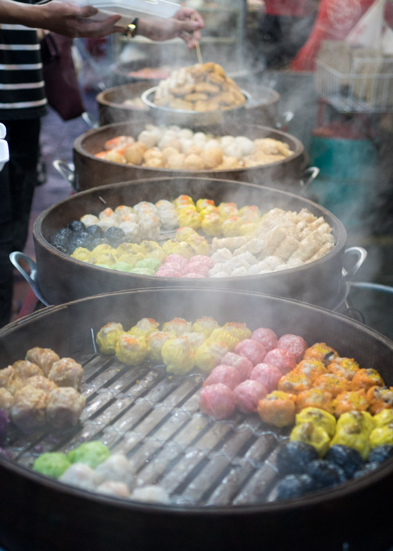 living as a nomad - food in Kuala Lumpur colourful dim sum