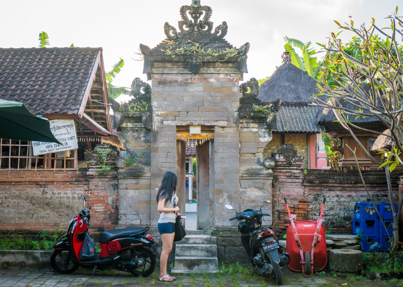 living as a nomad - bali asian girl motorcycle temple