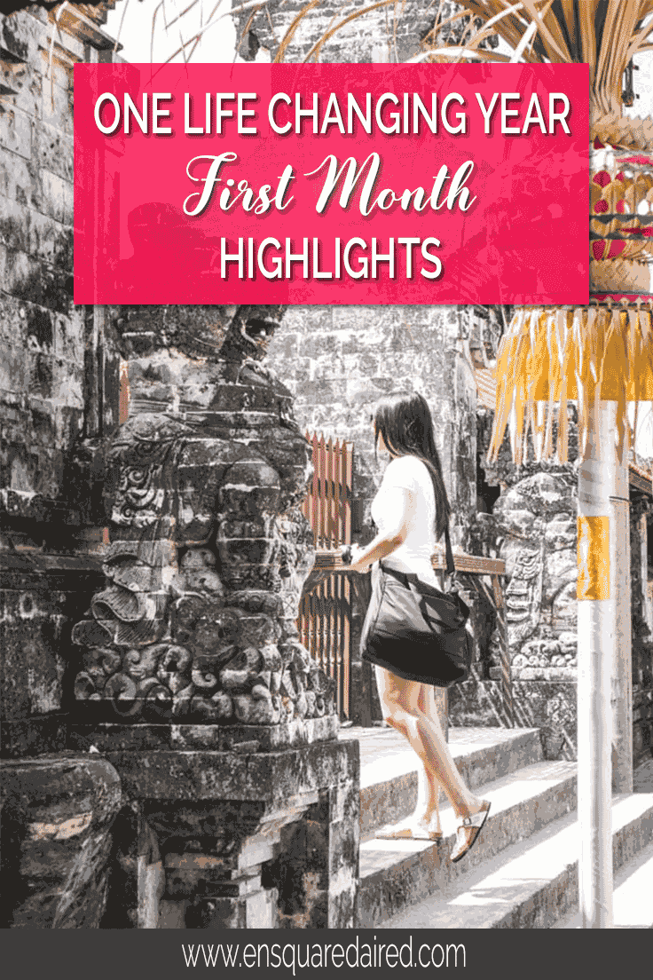 First month highlights of one life changing year | Here is a first month recap of our year of slow travels where we visited Bali and Malaysia. Read more about our learnings and adventures. This post will give you wanderlust and thoughts about exciting things to do on your next bucket list journey