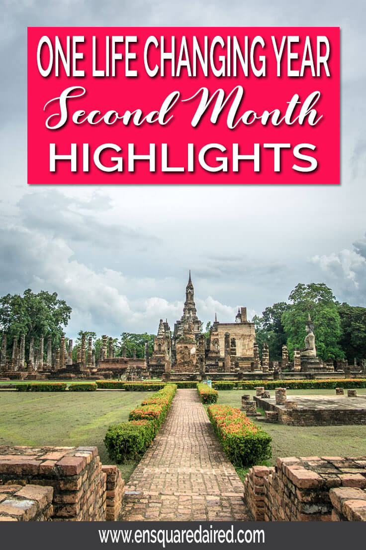 Life on the Road - Highlights of the Second Month | Here is the second month's recap of our year of slow travels where we visited beautiful Thailand. We explored Phuket, Ao Nang, Railey beach, Bangkok, Ayutthaya, Sukhothai and Chiang Mai. Read more about our learnings and adventures. This post will give you wanderlust and ideas about exciting things to do on your next adventure!