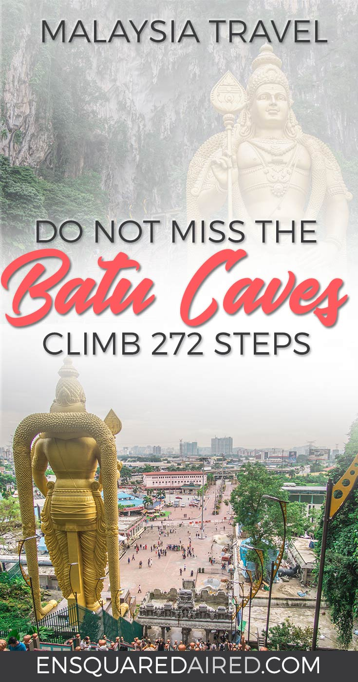 Climbing Batu Caves Steps to See the Famous Temple Cave | Kuala Lumpur has been on my bucket list for over a decade. The street food is incredible, along with the twin towers and the Batu caves. Click to read more and see the photography about the Batu Caves #nomad #batucaves #wanderlust #malaysia #slowtravel thaipusa | kuala lumpur things to do | kuala lumpur photography | kuala lumpur travel
