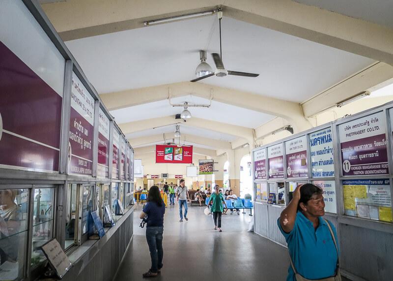 Ayutthaya to Sukhothai - inside phitsanulok bus station