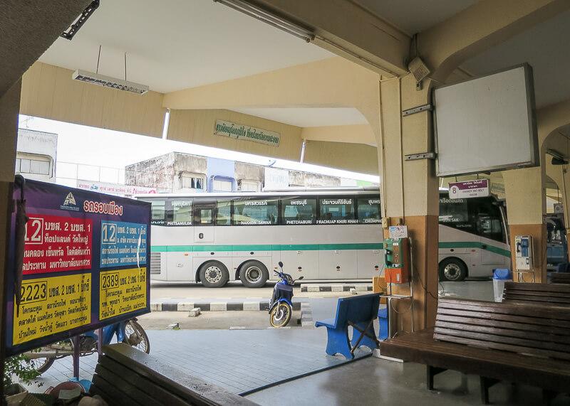 Ayutthaya to Sukhothai - phitsanulok bus station
