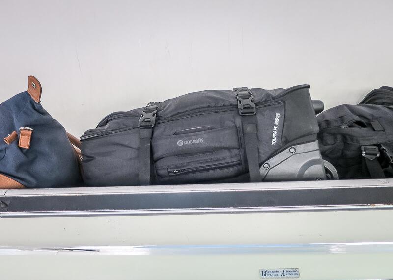 Ayutthaya to Sukhothai - luggage storage on bus