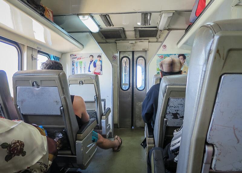 Ayutthaya to Sukhothai - inside train