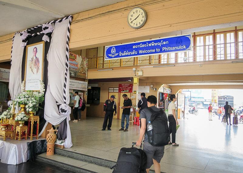 Ayutthaya to Sukhothai - train station