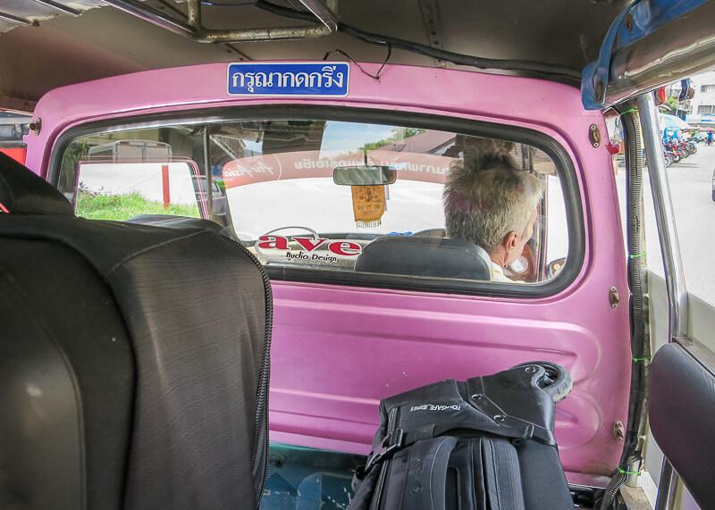 Ayutthaya to Sukhothai - inside tuktuk