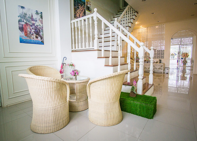 stairs inside Sukhothai Hotel De'Peal