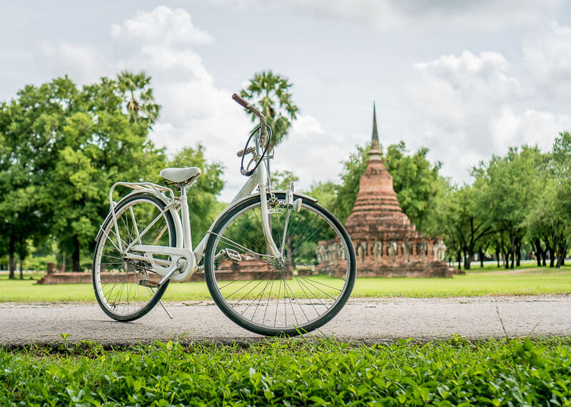 bicycle in sukhothai thailand