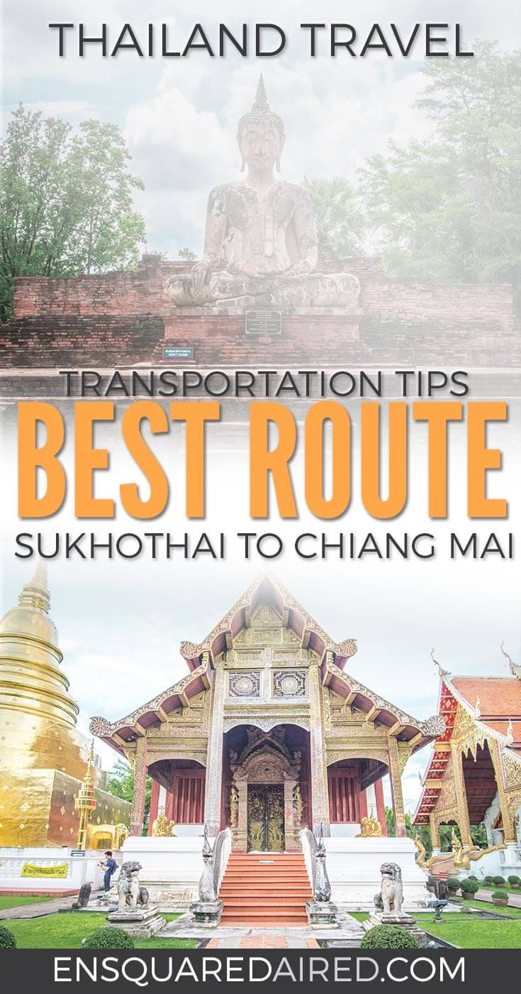 bus or train option from sukhothai to chiang mai