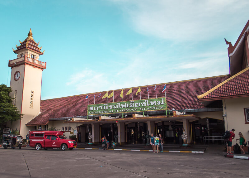 Chiang Mai train station front entrance