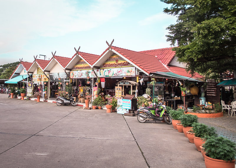 shops at Chiang Mai Train Station