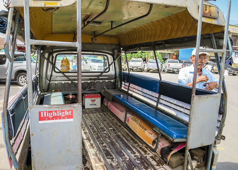 tuk tuk ride to phitsanulok train station before catching train to chiang mai