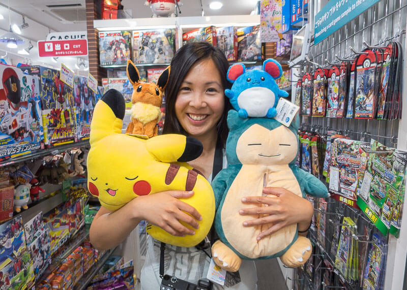 nomadic life new zealand japan - pokemon plush toys