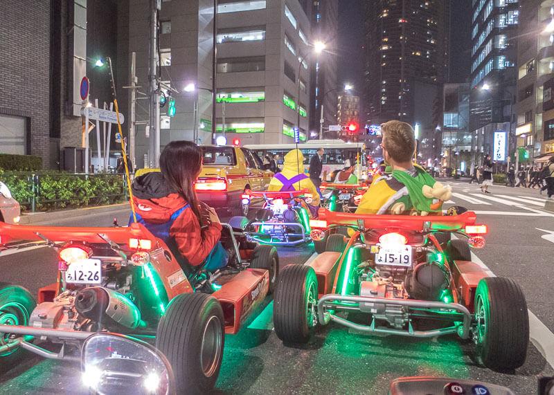 nomadic life new zealand japan - tokyo real life mario kart