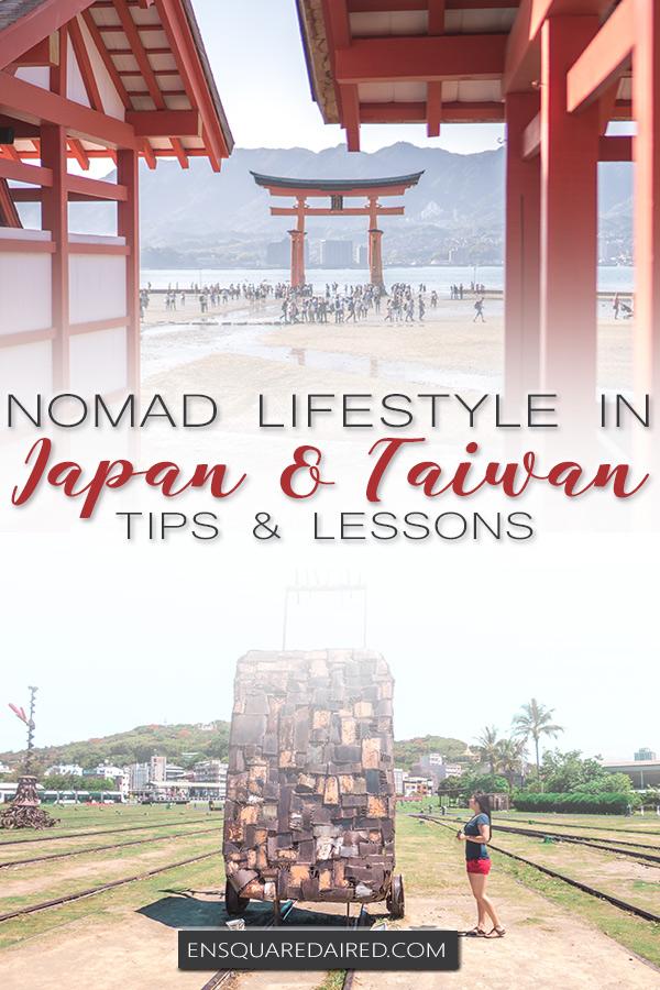 modern nomad life japan taiwan - pin