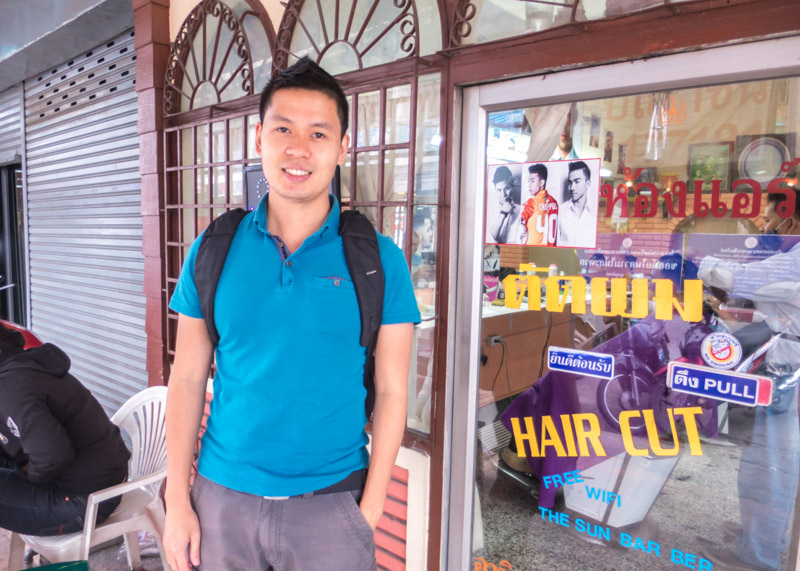 Expat life in chiang mai - fresh new haircut