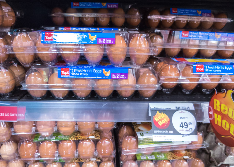 Expat life in chiang mai - Tops supermarket eggs