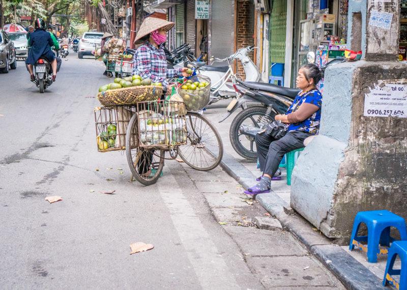 Hanoi trip blog - vietnamese street ladies