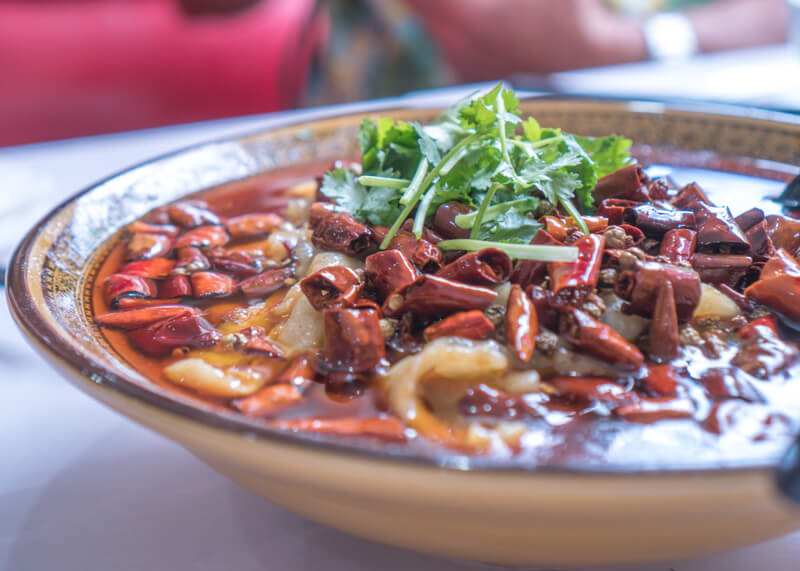 melbourne travel blog - chinese spicy dish