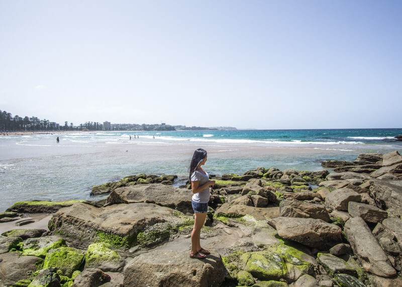 sydney travel blog - manly beach rocks