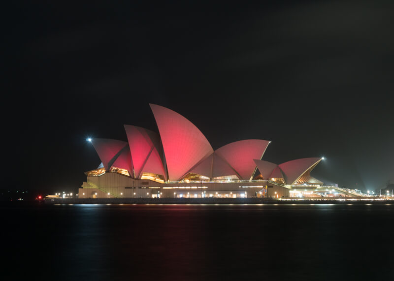sydney travel blog - opera house at night