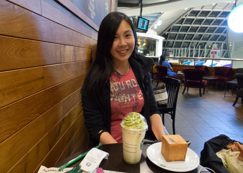 sydney travel blog - BKK airport starbucks