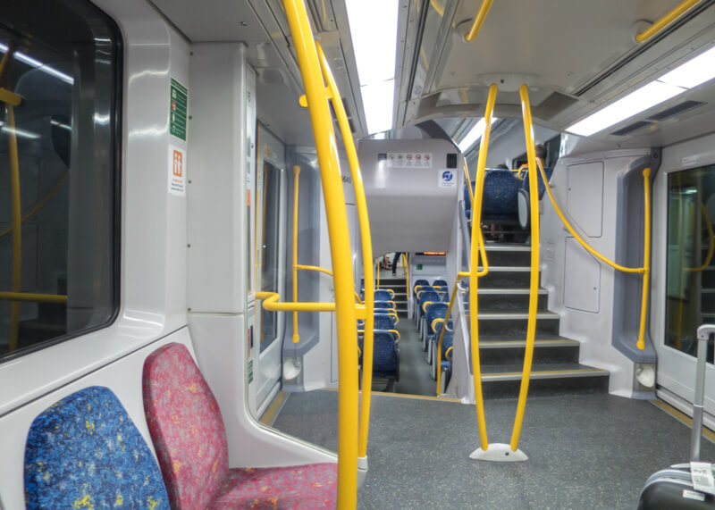 sydney travel blog - sydney airport link train