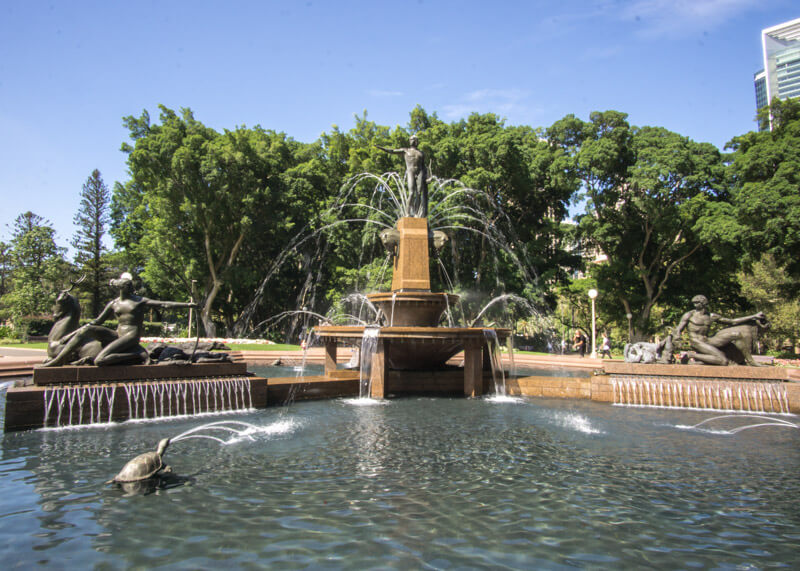 sydney travel blog - Hyde Park fountain