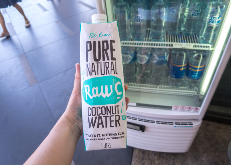 sydney travel blog - pricey coconut water