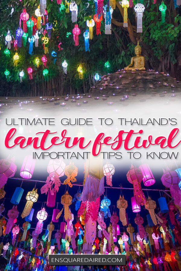 Loy krathong chiang mai lantern festival - pinterest
